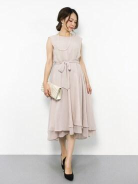 23743b9097652 Andemiu(アンデミュウ)のドレス(ベージュ系)を使ったコーディネート一覧 - WEAR