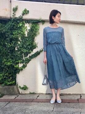 3ecbb2bac5bc9 ドレスを使った「水色」のコーディネート一覧(ユーザー:ショップスタッフ) - WEAR
