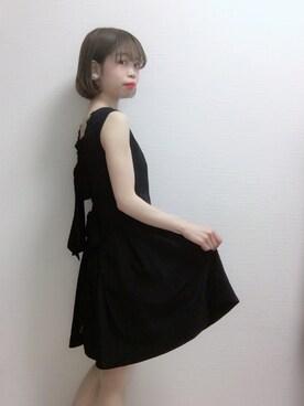 b60a217049395 りりさんの「バッグリボンプリーツドレス(Maison de FLEUR メゾンドフルール)