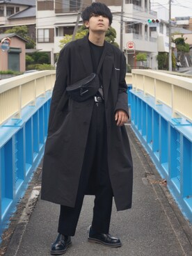 Daigo さんの「dressedundressed PRINTED OVERSIZED LAB COAT(DRESSEDUNDRESSED)」を使ったコーディネート
