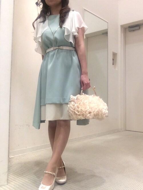 結婚式 ワンピース コーデ