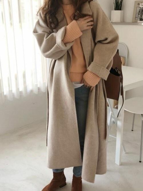 Doula Douladouladoulaさんのチェスターコート「オーバーサイズ チェスターコート(Girly Doll|ガーリードール)」を使ったコーディネート