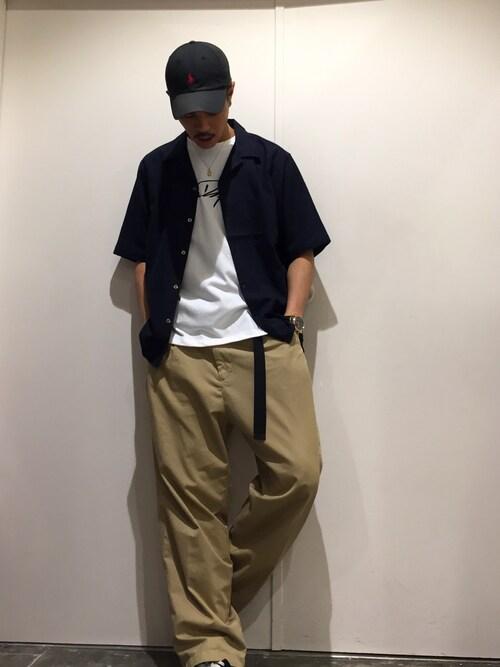 Confirm ILL'S 茨木店コンファーム・イルズ 茨木さんのシャツ/ブラウス「Confirm / コンファーム リネンレーヨン半袖オープンカラーシャツ(Confirm|コンファーム)」を使ったコーディネート