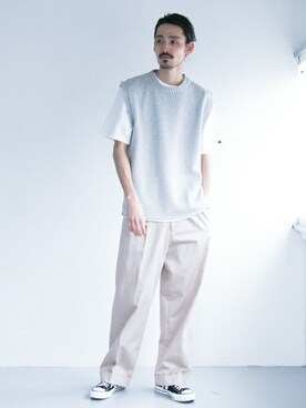 URBAN RESEARCH|otsukiさんの「COTTON KNIT CREW VEST(URBAN RESEARCH)」を使ったコーディネート