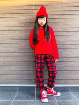 ddf9e57e30b83 赤ニット」のキッズコーディネート一覧(年齢:10歳~14歳) - WEAR