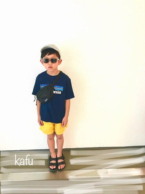 kafuさんのサンダル「【15〜22cmまで対応】【キッズ】MILANO/ミラノ EVA KIDS(BIRKENSTOCK|ビルケンシュトック)」を使ったコーディネート