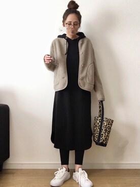 maiko さんの「フリースノーカラージャケット(長袖)(ユニクロ|ユニクロ)