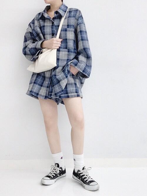 ANAP Online Officialyokopiさんのシャツ/ブラウス「チェックシャツセットアップ(ANAP|アナップ)」を使ったコーディネート