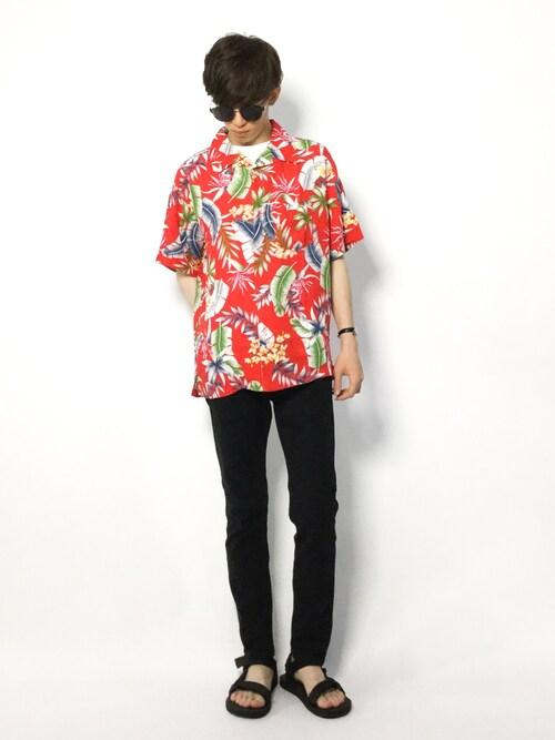 hiroさんの「WEGO/総柄アロハシャツ(WEGO)」を使ったコーディネート