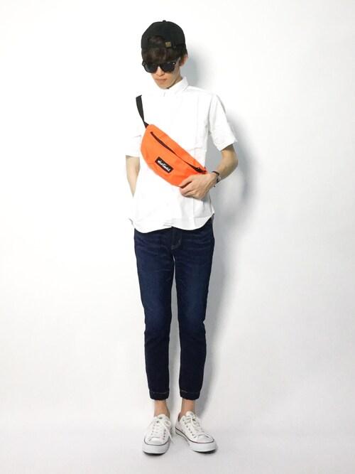 ZOZOTOWNhiroさんのシャツ/ブラウス「OXFORD B.D SS/オックスフォードシャツ 半袖(FREAK'S STORE フリークスストア)」を使ったコーディネート