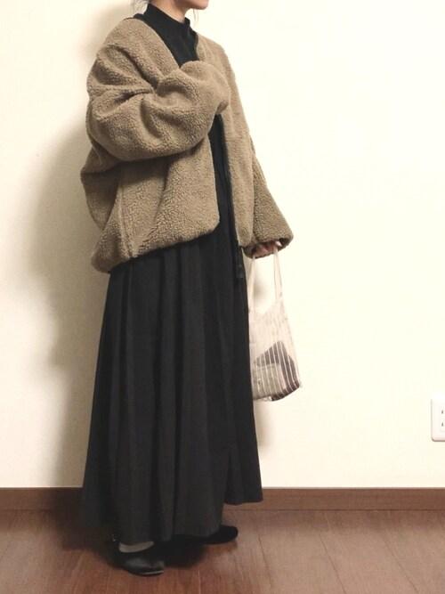 ayuMi◡̈さんの「リバーシブルボアフリースジャケット(Chaco closet)」を使ったコーディネート