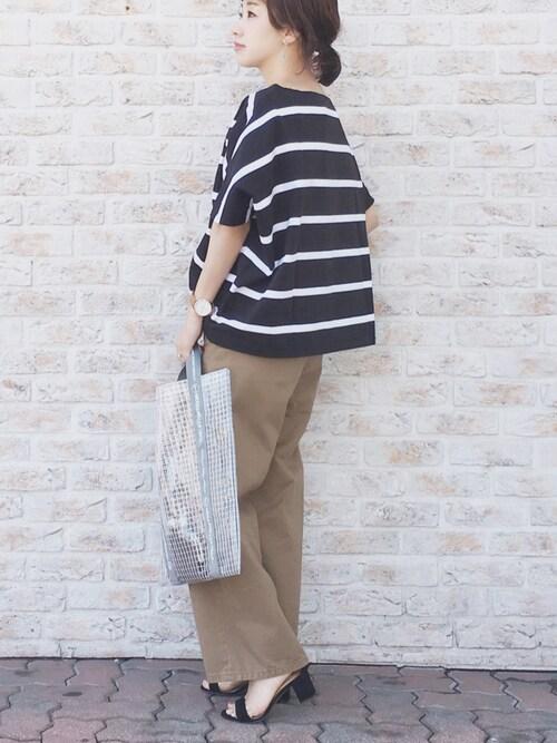 陽さんのTシャツ/カットソー「【Traditional Weatherwear】BOATNECK SHORTSLEEVE TOP(Traditional Weatherwear トラディショナルウェザーウェア)」を使ったコーディネート