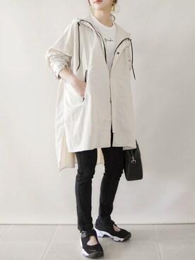 陽さんのTシャツ/カットソー「S137 TS ロゴTシャツ(agnes b. アニエスベー)」を使ったコーディネート