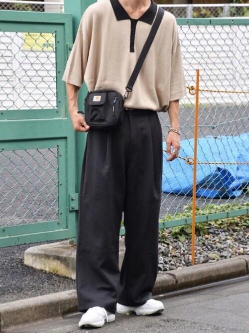 kutirkutir_menさんのパンツ「1タック切り替えワイドパンツ(kutir|クティール)」を使ったコーディネート