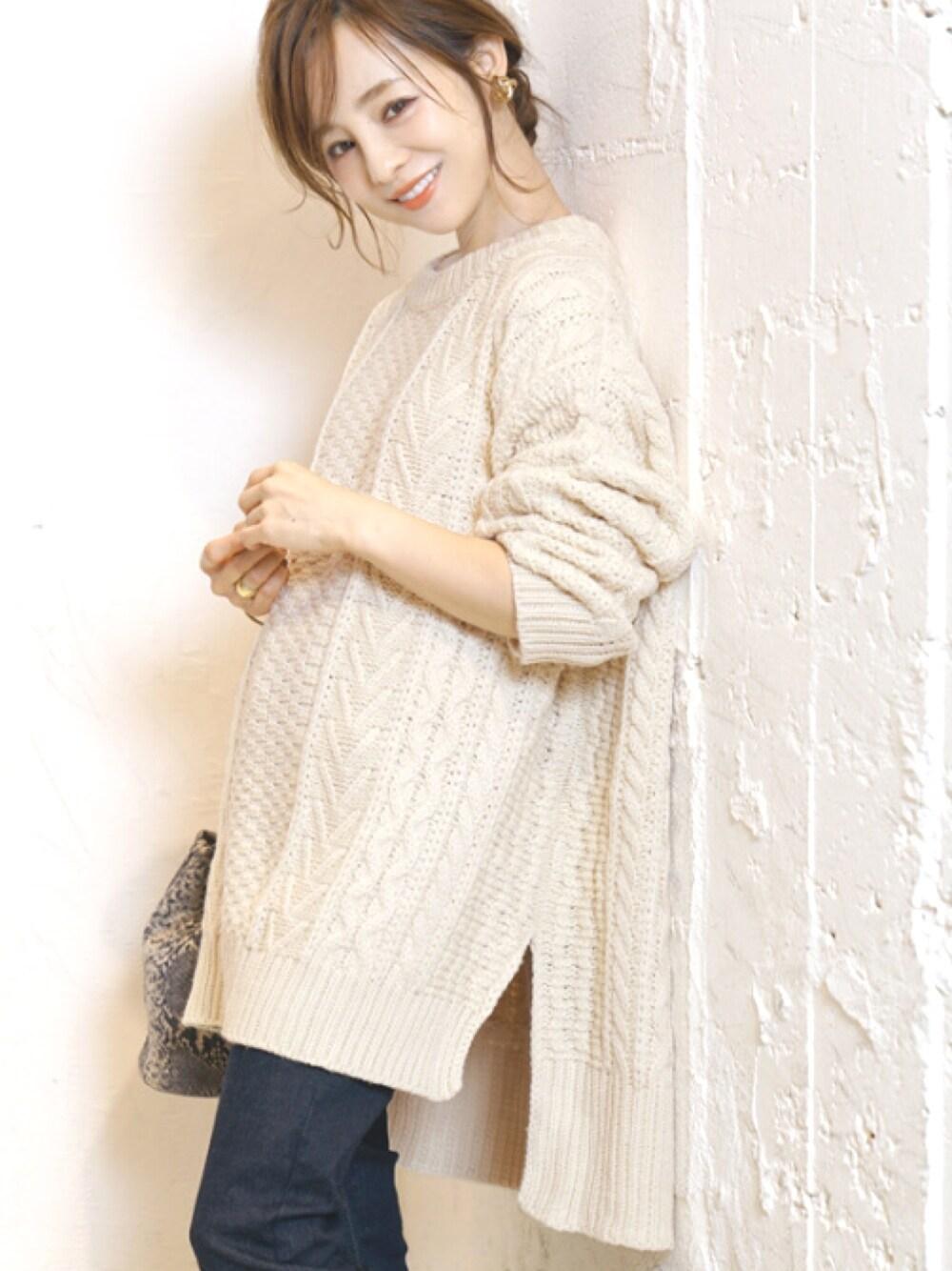 田中亜希子 coca ニット 30代40代おしゃれ服