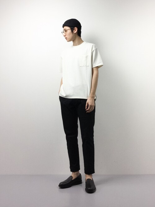 ZOZOTOWNYudai IshiiさんのTシャツ/カットソー「ポケット付きBig TEE(nano・universe ナノユニバース)」を使ったコーディネート