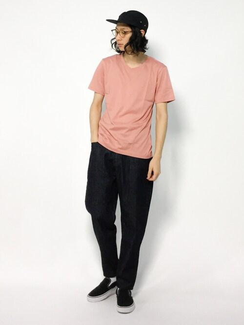 ZOZOTOWNYudai IshiiさんのTシャツ/カットソー「SC: アメリカンシーアイランドコットン Vネック Tシャツ■(SHIPS|シップス)」を使ったコーディネート