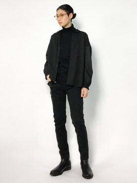 ZOZOTOWN|Yudai Ishiiさんの「<monkey time> TR/GEORGETTE WIDE SHIRT/シャツ(MONKEY TIME)」を使ったコーディネート