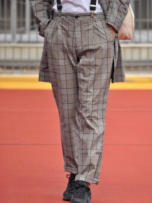 URBAN RESEARCHKakeruMayama(真山走)さんのパンツ「check slim trouser(URBAN RESEARCH アーバンリサーチ)」を使ったコーディネート