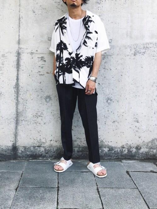 kenkenさんのシャツ/ブラウス「メンズ アロハシャツ(JIGGYS SHOP|ジギーズショップ)」を使ったコーディネート