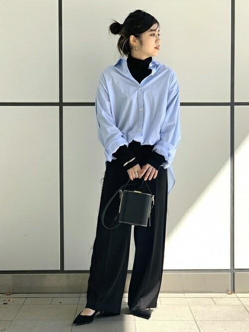 AP STUDIO 新宿店staff Oさんのシャツ/ブラウス「MONTI コットンウォッシュシャツ(AP STUDIO|エーピーストゥディオ)」を使ったコーディネート