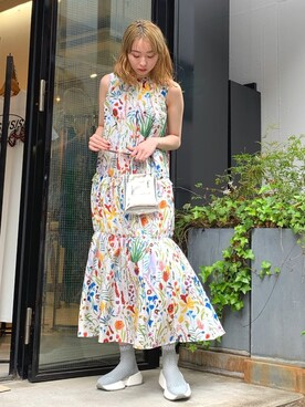 1459d786cf598 MIDWEST TOKYO WOMEN|Izuさんの「TARO HORIUCHI ギャザーワンピース(TARO HORIUCHI|