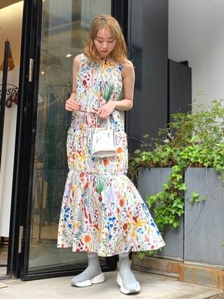 53b186af1320a MIDWEST TOKYO WOMEN Izuさんの「TARO HORIUCHI ギャザーワンピース(TARO HORIUCHI 