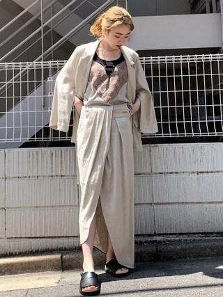 bbb39754f3050 MIDWEST TOKYO WOMEN Izuさんの「STAIR ラメヘリンボーンジャケット(STAIR ステア