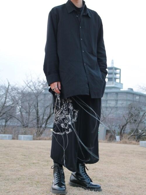 なばそさんの(Yohji Yamamoto)を使ったコーディネート