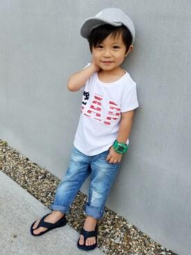 a086b6f95294e アキラさんの「Gap アメリカーナロゴ半袖Tシャツ(GAP|ギャップ)」