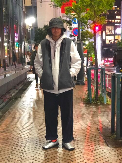 BEAVER渋谷店 mappeiさんのベスト「MANASTASH/マナスタッシュ POLAR 200 VEST フリースベスト(MANASTASH マナスタッシュ)」を使ったコーディネート