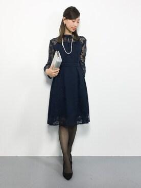 a8d95dd2ad945 ZOZOTOWN|KIIさんのドレス「クチュールレースリボンワンピースドレス(RUIRUE BOUTIQUE|