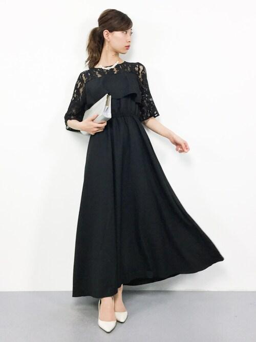 胸元すっきりドレス