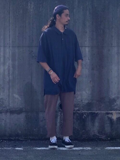 Genki Nakamuraさんの「POLO RALPH LAUREN / ポロ ラルフローレン BASIC POLO SHIRTS ワンポイントロゴ 鹿の子 ポロシャツ/ボーイズライン(POLO RALPH LAUREN)」を使ったコーディネート