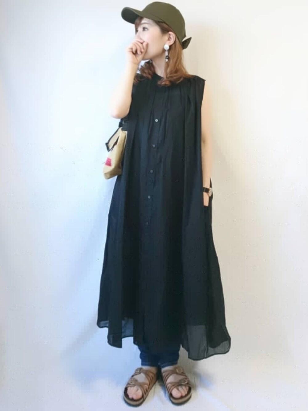 遊園地 ママコーデ テーマパーク ファッション 30代 40代 シャツワンピ サニーレーベル