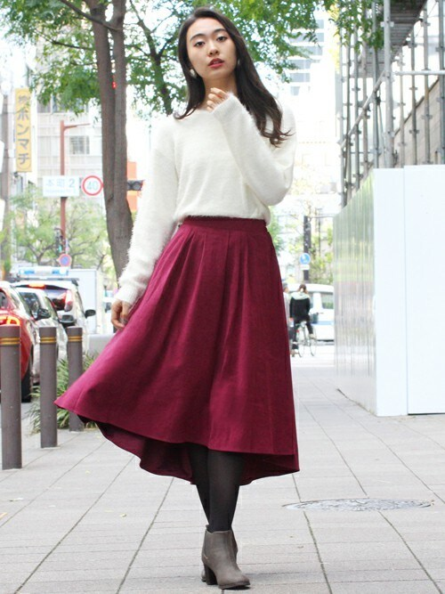felliniフェリーニさんのスカート「サンディングピーチテールカットスカート(FELLINI|フェリーニ)」を使ったコーディネート