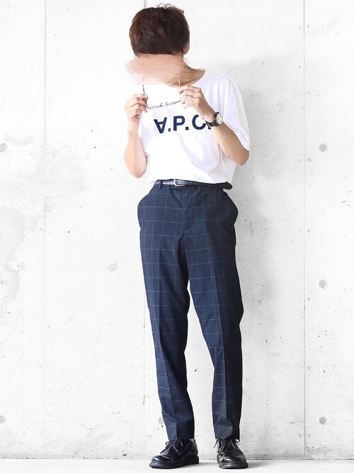 まーしい🇫🇷さんの「T-SHIRT VPC HIVER 87/HOMME(A.P.C.)」を使ったコーディネート