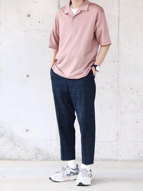 MARSEE🇫🇷さんの「CM ☆ドライ ウールミックス オープン カラー ポロシャツ(green label relaxing)」を使ったコーディネート