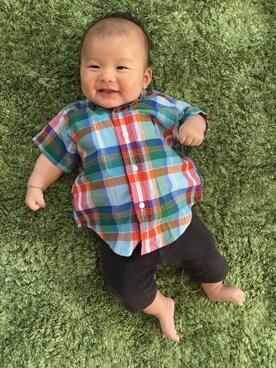 da6c6fd655b23 シャツ・ブラウスを使った「赤ちゃんコーデ」のメンズコーディネート一覧 - WEAR