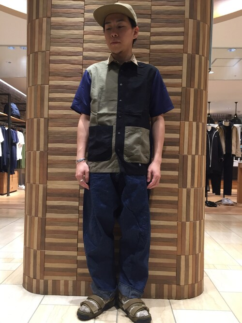 BEAVER名古屋店 funatoさんのシャツ/ブラウス「MANASTASH/マナスタッシュ RIVER SHIRT�U(MANASTASH マナスタッシュ)」を使ったコーディネート