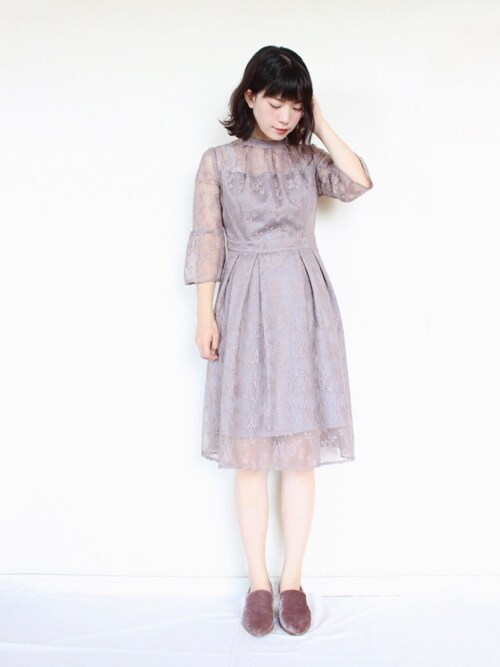 36dbf56857fbf まいさんのドレス「クチュールレースリボンワンピースドレス(RUIRUE BOUTIQUE|ルイルエ