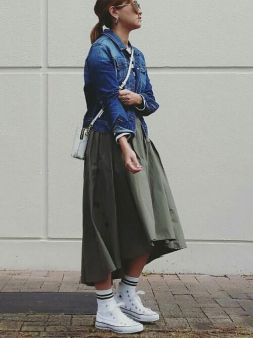 SHOKO さんのスカート「フィッシュテールタックスカート(coca コカ)」を使ったコーディネート