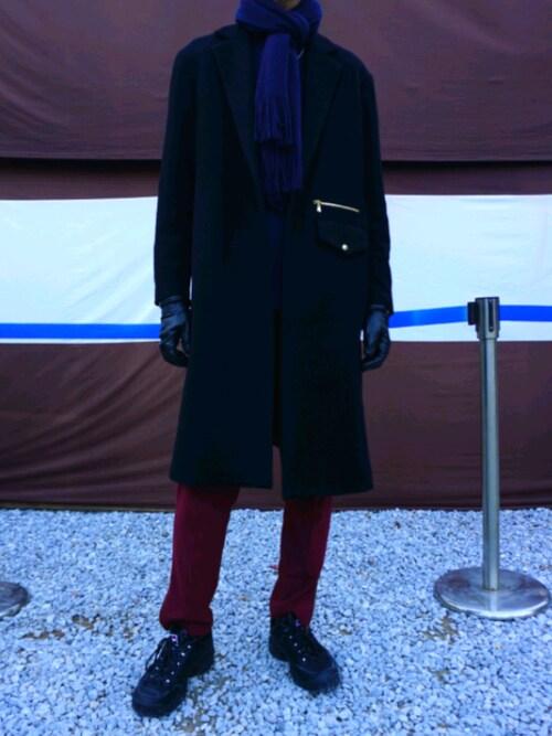 Takumiさんの「2019秋冬 チェスターコート(CULLNI)」を使ったコーディネート
