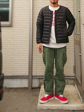 sawaさんの「mont-bell SUPERIOR DOWN ROUND NECK JKT MEN'S#(mont-bell)」を使ったコーディネート