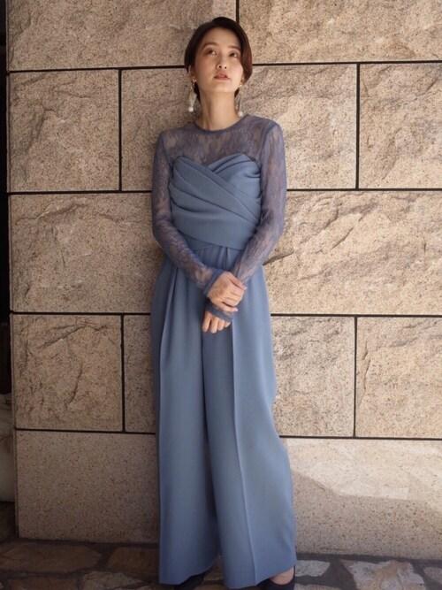 結婚式パンツドレス