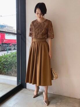 ea6d3e7ad3091 ayakoさんの「LADYオーバーレースギャザードレス(LAGUNAMOON|ラグナムーン)」