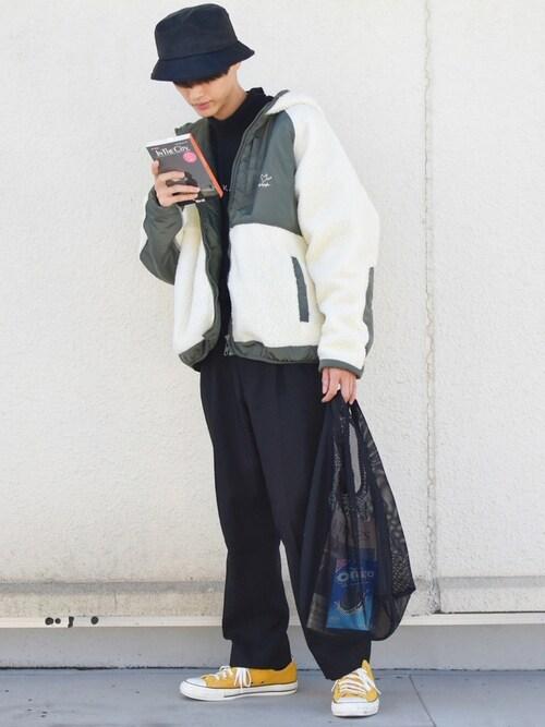 しゅーとくさんのトートバッグ「【Adoon plain】メッシュトートバック(Adoon plain|アドーンプレーン)」を使ったコーディネート