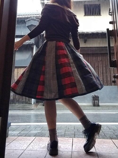 atsuko さんのドレスシューズ「SVEC/シュベック 3ホール オックスフォードシューズ(SVEC|シュベック)」を使ったコーディネート