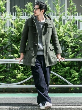 Sonny Label| Sonny Label MENSさんの「Sonny Label LONDON TRADITION 別注MENS OVER SIZE DUFFLE(URBAN RESEARCH Sonny Label)」を使ったコーディネート