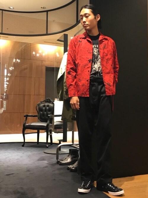 HYSTERIC GLAMOUR銀座マロニエゲート店Ryosukeさんのチノパンツ「ミリタリーチノパンツ(HYSTERIC GLAMOUR|ヒステリックグラマー)」を使ったコーディネート